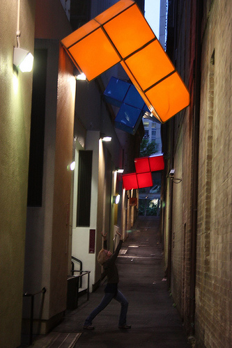 Giant Tetris in Sydney Abercrombie Lane