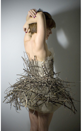 paper, tulle, dresses